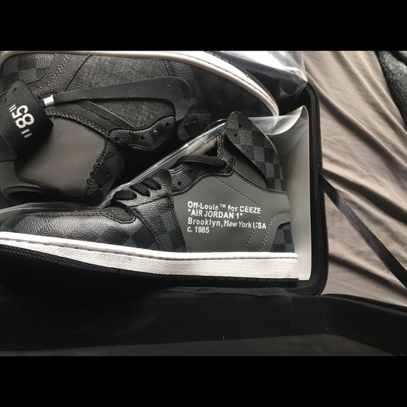 "3bbe9d2f6757 Louis Vuitton Other - Air Jordan 1 ""Off-Louis"" V2 Custom by Ceeze"